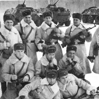 Группа пограничниов. участников боев за о.Даманский
