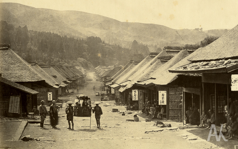 Японская деревня Хаконе на о. Хонсю. 1869 г