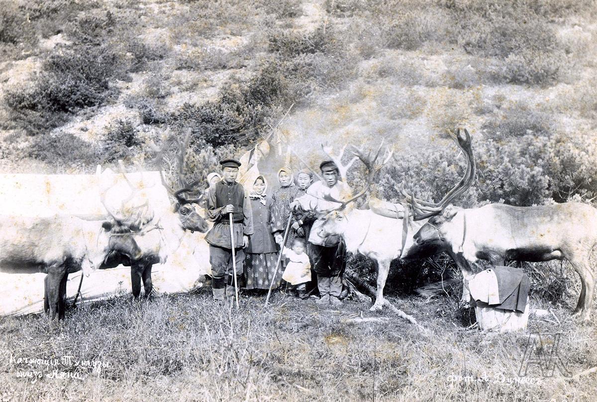 Кочующие тунгусы в окрестностях Аяна на Охотском побережье