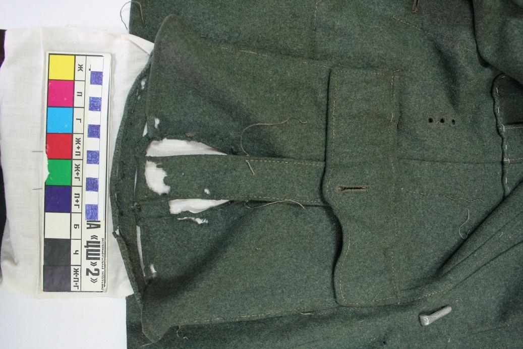 Карман левой полочки кителя до реставрации