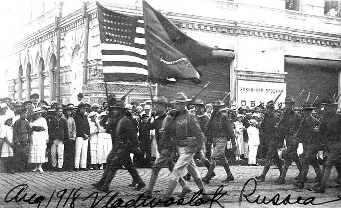 парад американских войск