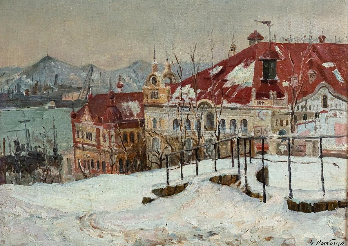 И.В. Рыбачук. Владивосток. 1948. Холст, масло. 59.8х68.6.