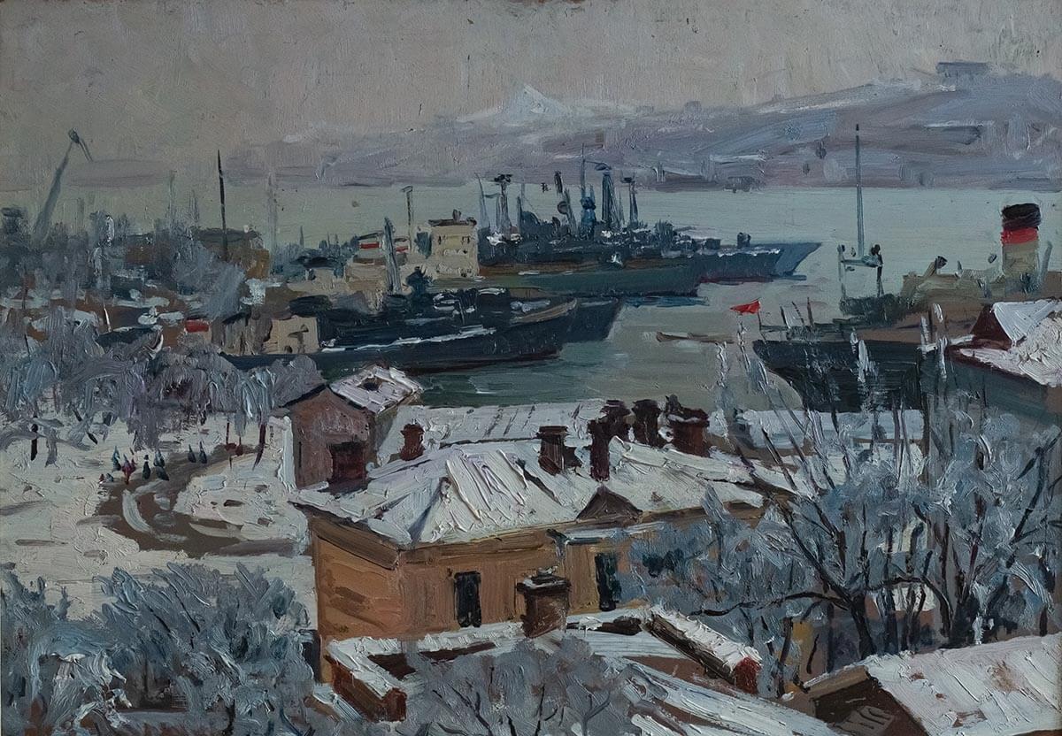И.В. Рыбачук. Владивосток. 1976. Холст, масло. 50.7х72.5.