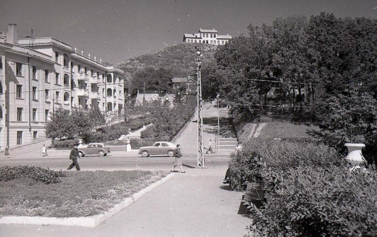 Вид на улицу Пушкинскую. 1953 год.