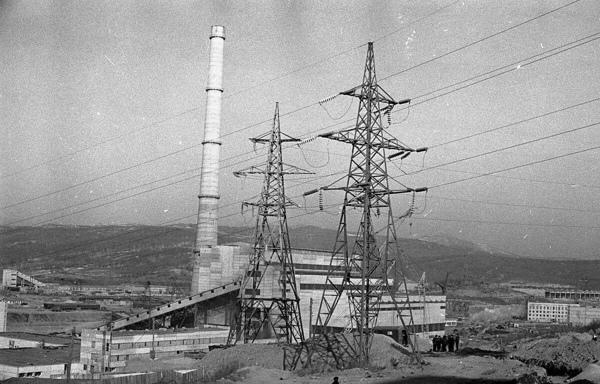 Панорама с видом на ТЭЦ-2. 1969 год.