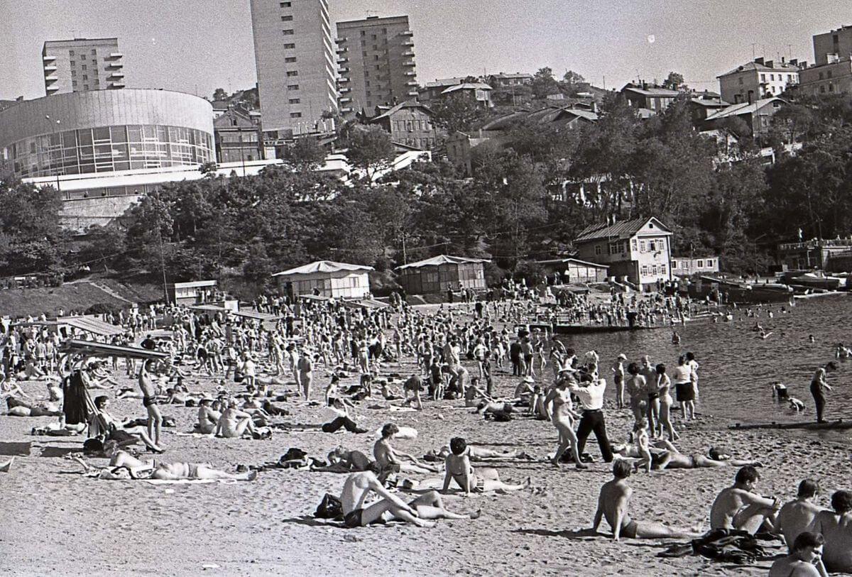 Набережная Спортивной гавани. 1971 год.