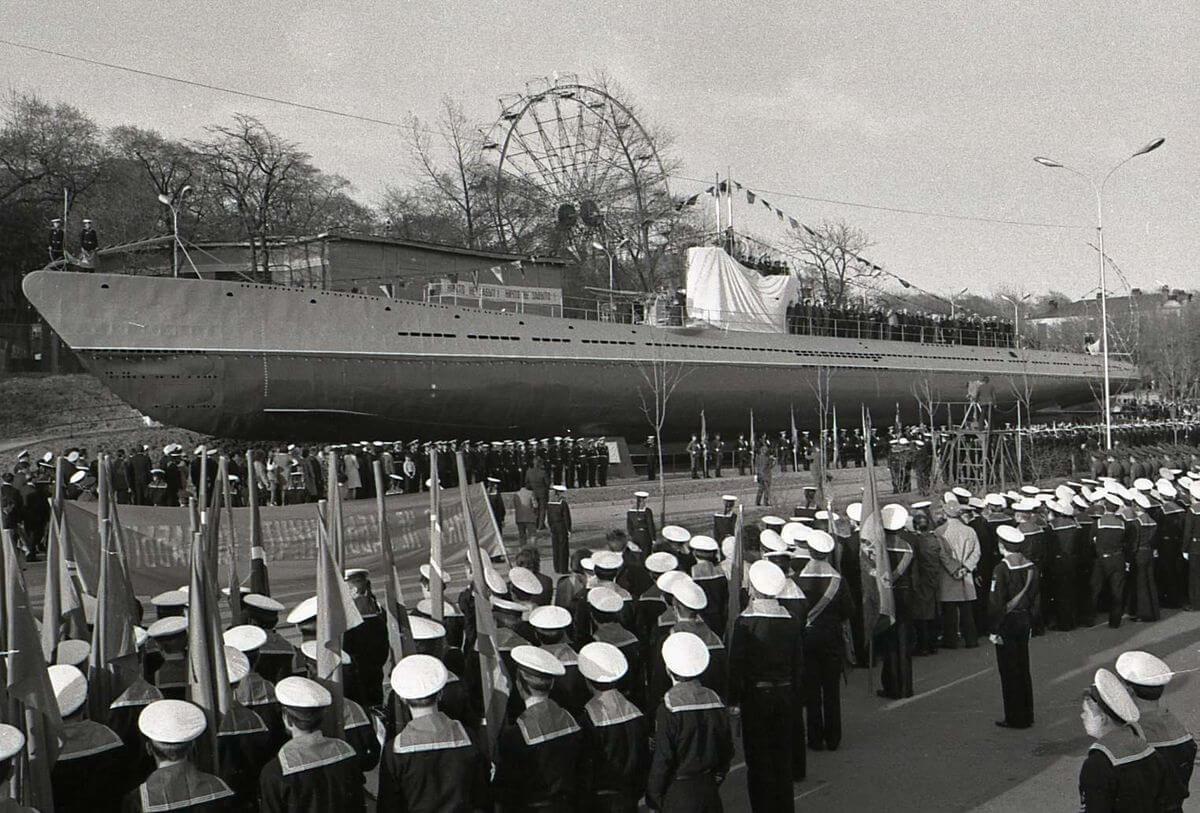 Открытие мемориала «Подводная лодка С-56». 1975 год.