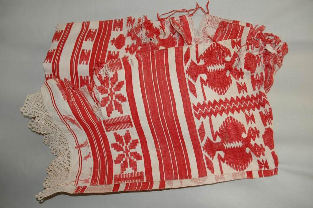 Рушник.  Украина, г. Кролевец, начало ХХ века, домотканое полотно, ткачество, 240х40.