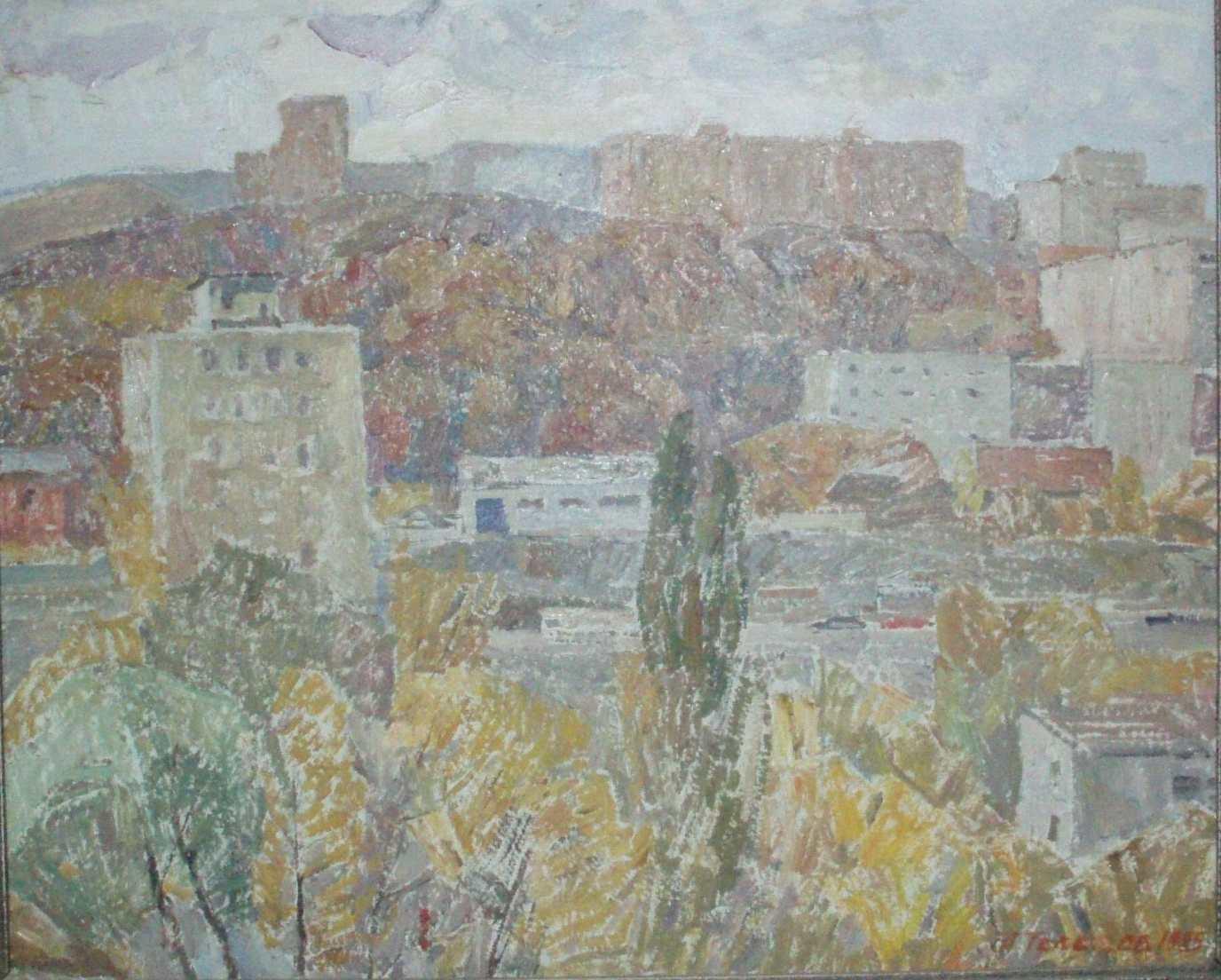 Телешов А. В. Из окна мастерской. 1985. Холст, масло. 48х60