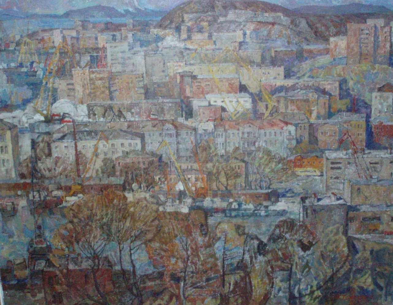 Телешов А. В. Владивосток.1980. холст, масло.  120х150