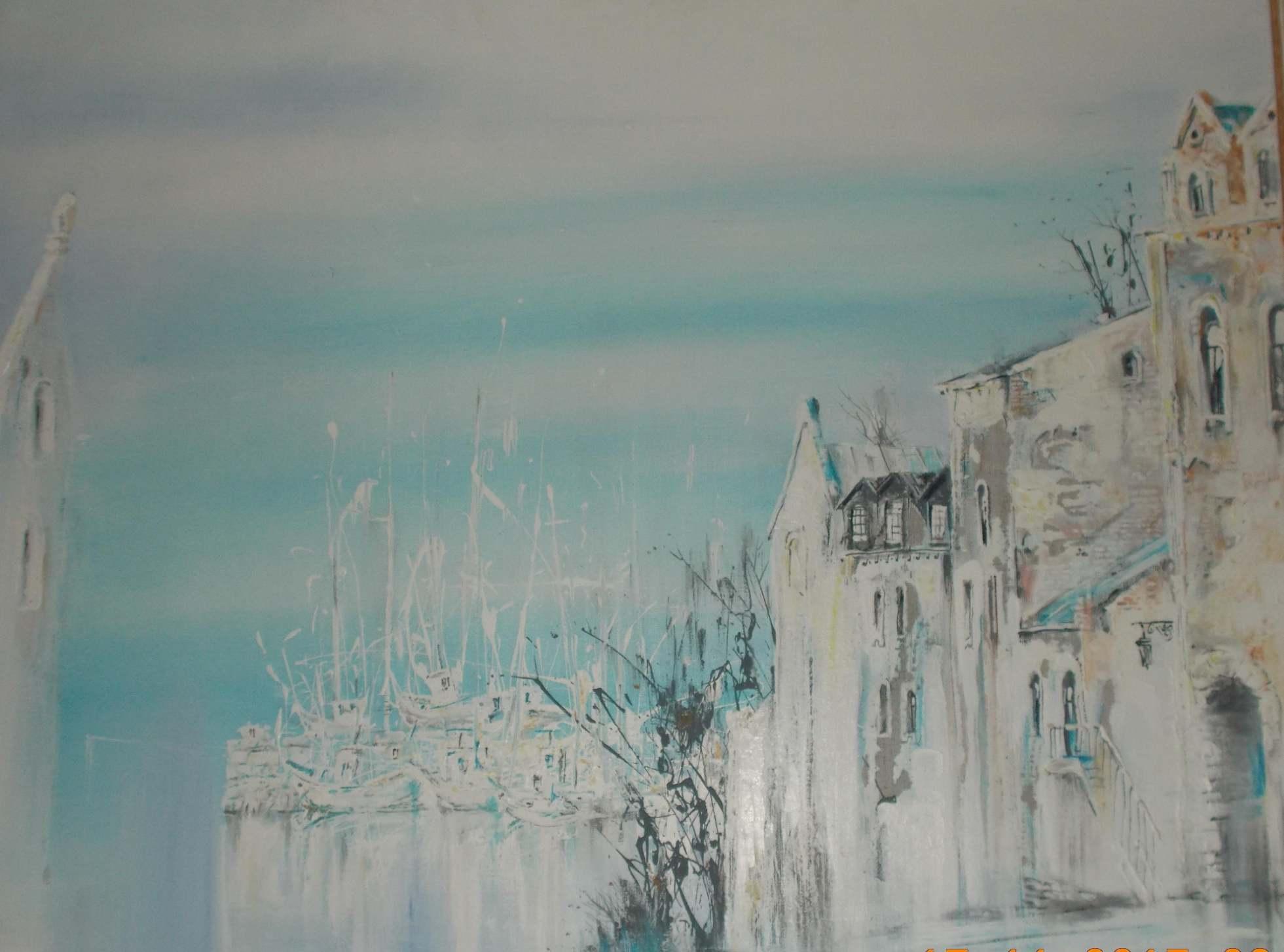 Черкасов С. М. Вид на Амурский залив с улицы адмирала Фокина. 2003. Холст, акрил. 90х85