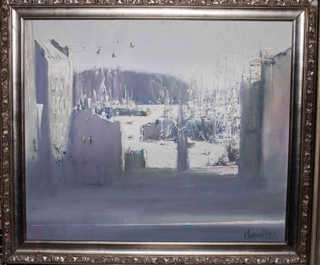 Черкасов С. М. Океанский проспект. 2001. Холст, акрил. 55х65