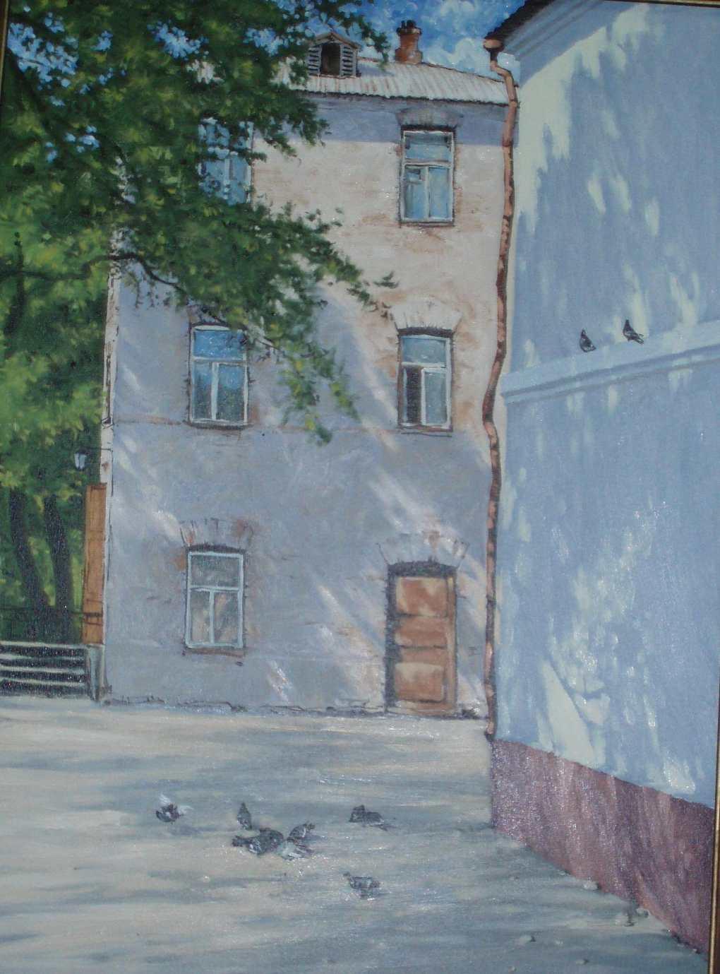 Обманец А. А. Владивосток. В тени старого дерева. 2003. Холст, масло. 80х60