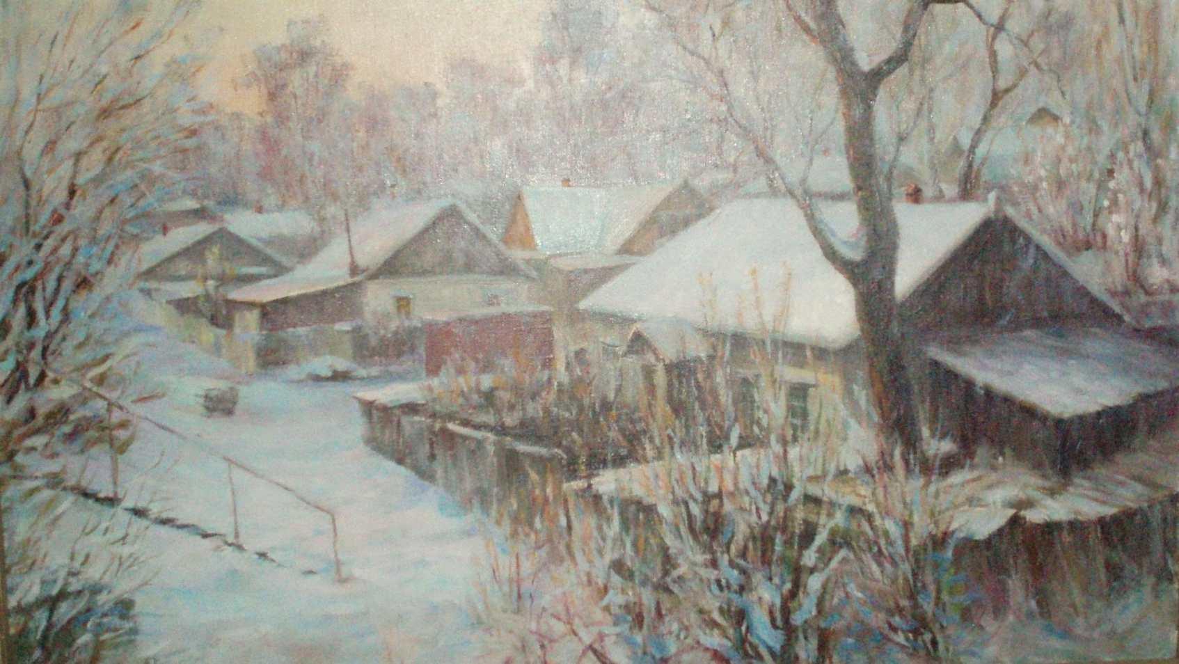 Белоусов В.П.Дома старого Владивостока. 2003. Холст, масло. 43х73