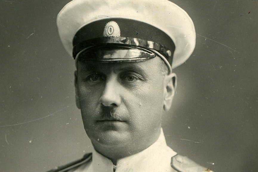 Адмирал Старк Георгий Карлович, последний командующий Сибирской военной флотилией. <br /> Владивосток. 1910-е годы.<br />