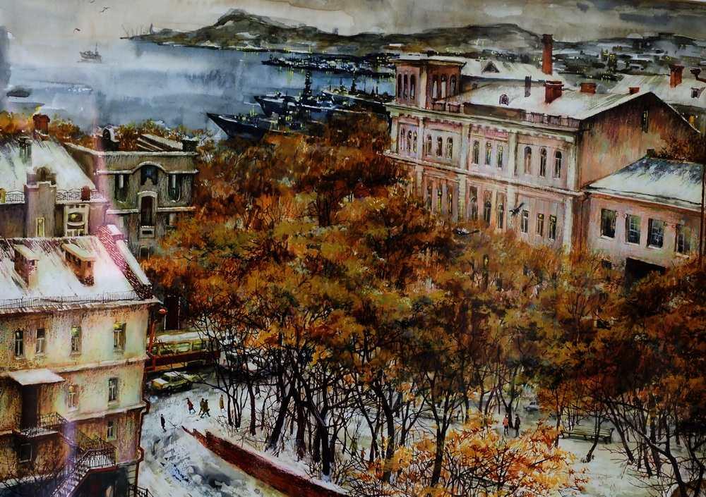 Осиповы Е. и О. Театральная площадь. 2002. Бумага, смешанная техника. 49Х37