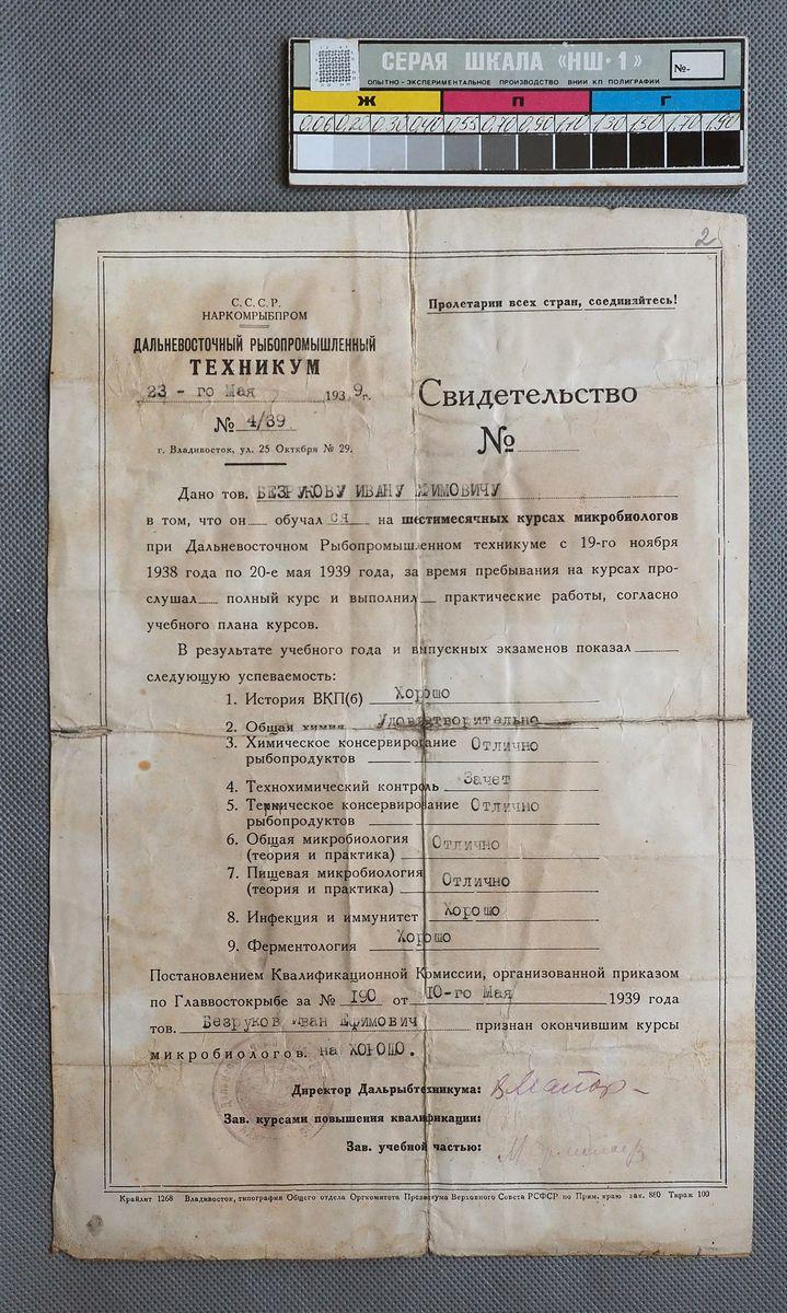 Реставрация документа